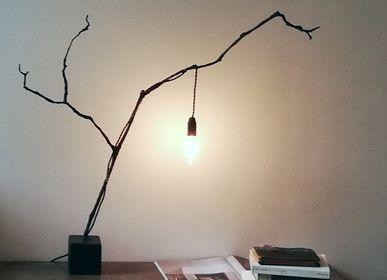 Table lamps - Mademoiselle Bronze Sculpture Lamp - L'ATELIER DES CREATEURS