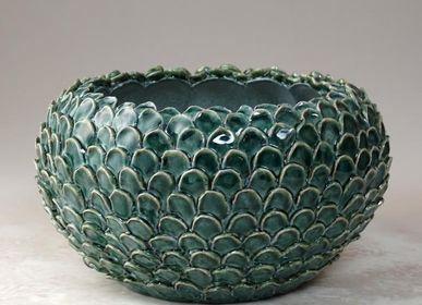 Ceramic - green scales Small vase  - CERAMICA ND DOLFI