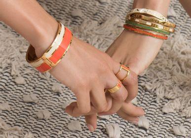 Bijoux - Bracelet Vaporetto -  Blanc sable/ tangerine - BANGLE UP