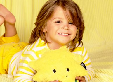 Soft toy - Plush Ptipotos the sun yellow - LES DEGLINGOS
