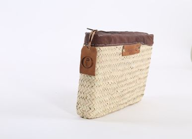 Clutches - Straw & Leather Clutch - ORIGINAL MARRAKECH
