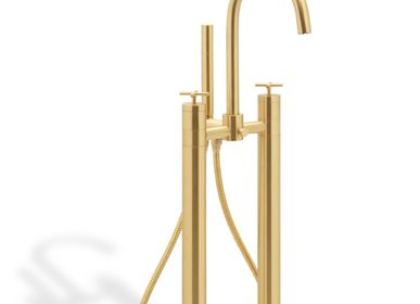 Spa and wellness - Nau Mounting Floor Mixer with Hand shower Tap - MAISON VALENTINA