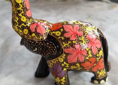 Decorative objects - Elephant in papier mache. - PECHAAN