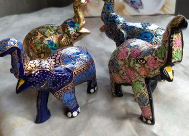 Decorative objects - Elephant in papier mache. - PECHAAN