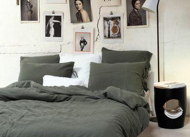 Bed linens - Cotton gauze duvet cover light Khaki - MAISON D'ÉTÉ