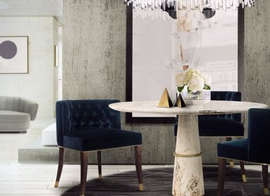 Decorative objects - AGRA round marble dining table - BB CONTRACT