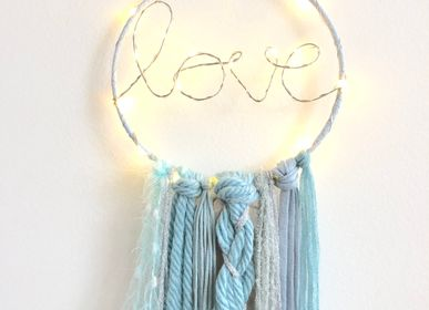 Wall decoration - Dreamcatcher / Blue & silver - LES LOVERS DECO