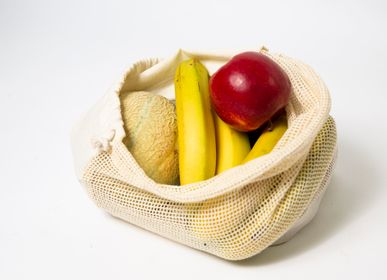 Bags / totes - Personalised organic pouch for your fruits and vegetables - FEEL-INDE