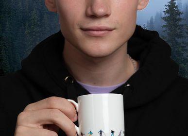 Mugs - Powderhound Ski Chain Espresso Cup and Saucer - POWDERHOUND