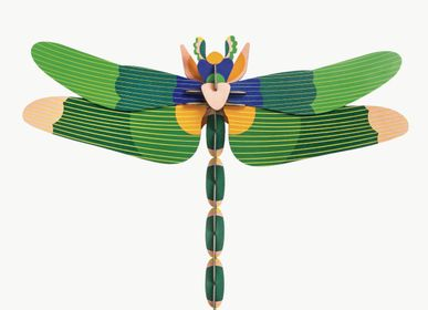 Wall decoration - Giant dragonfly, green - STUDIO ROOF