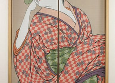 Wall decoration - Noren, traditional Japanese curtains - SHIROTSUKI / AKAZUKI JAPON