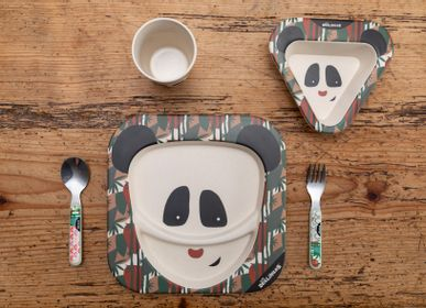 Kids accessories - Bamboo Lunch Set Panda - LES DEGLINGOS