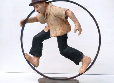 Sculptures, statuettes and miniatures - CIRCUS Man Sculpture - ELISABETH BOURGET
