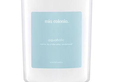 Candles - candle aquaholic 100 % vegetable wax - MIA COLONIA