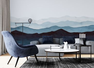Wall decoration - Blue Mountains - Panoramic wallpaper - LA TOUCHE ORIGINALE