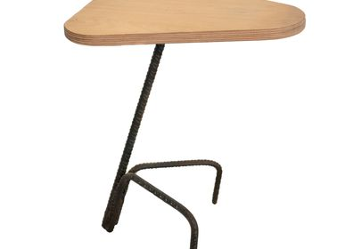 """Stools for hospitalities & contracts - Wooden Stool """"Saddle"""" Birch top - LIVING MEDITERANEO"""