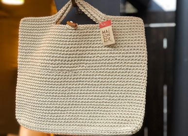 Bags and totes - Monac Handbag Crocheted Beige - MAISON ZOE