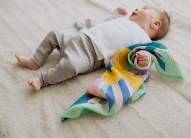 "Childcare - Baby swaddle in organic cotton ""Camille"" - SHANDOR"