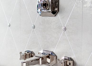 Faucets - Wall-mounted spout, Thermostatic & control valve, Art Deco collection  - VOLEVATCH