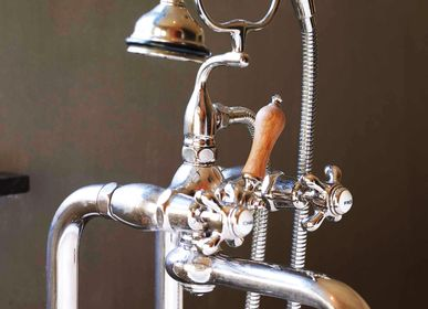 Faucets - Freestanding tub filler with handshower, Bistrot collection - VOLEVATCH