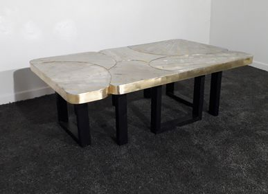 Tables basses - Coffee table laiton et zinc  - MARKO CREATION