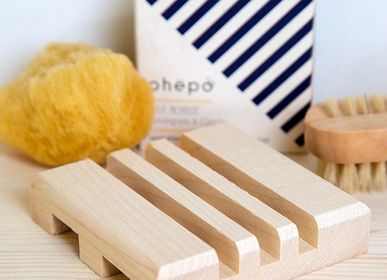 Decorative objects - MIDDLE wooden soap dish in raw Maple wood - OHËPO
