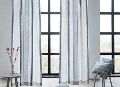 Curtains and window coverings - Linen Curtains Fringed, Hand Made  - LINENME