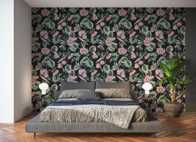 Wall decoration - Lotus wallpaper - LA TOUCHE ORIGINALE