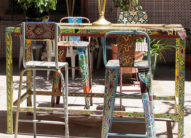Chairs - CHAISE DE BAR ATELIER COLORIAGE - MADE IN DIVA