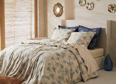 Bed linens - Percale de coton bio lavée - Amour Lointain Coquillage Bed Linen - DORAN SOU