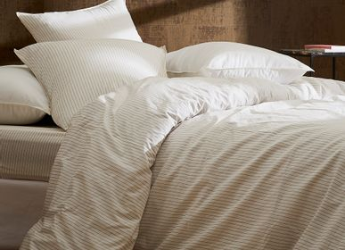 Bed linens - Washed organic cotton percale - Naturel Panama bed linen - DORAN SOU