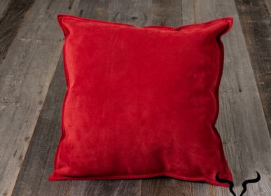 Decorative objects - Double face leather cushion - STUDIO SABATIER