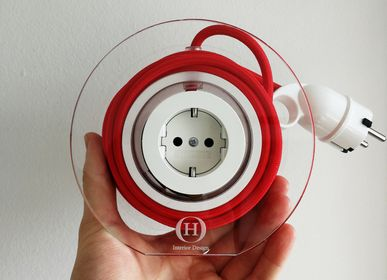 Design objects - Extension Cord for 2 Plugs - Red - OH INTERIOR DESIGN