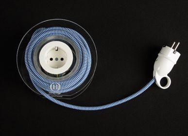 Hotel rooms - Extension Cord for 2 Plugs - Navy & White - OH INTERIOR DESIGN