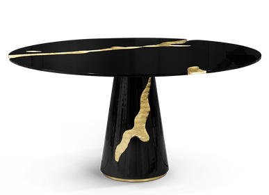 Tables - EMPIRE ROUND BLACK Dining Table - BOCA DO LOBO