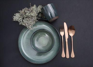 Assiettes au quotidien - Gemeo Hamuza Azul — assiette 27cm — Bleu -gris - GEMEO TABLEWARE