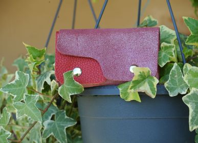 Leather goods - Glitter Leather Double Wallet - LA CARTABLIÈRE