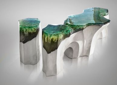 Benches - La Falaise | Bench & Side Table - EDUARD LOCOTA SCULPTURE STUDIO