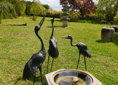 Outdoor decorative accessories - ZOUROU, Set of 3 Japanese cranes - THIERRY GERBER