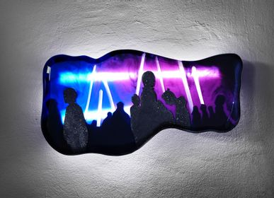 Wall decoration - Purple Generation | Wall Lamp - EDUARD LOCOTA SCULPTURE STUDIO