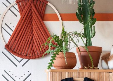 Wall decoration - Wool macrame - PANAPUFA