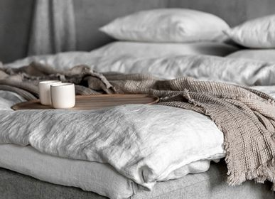 Bed linens - Stone Washed linen Bedding Rhomb  - LINENME