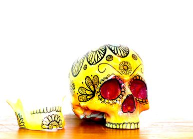 "Decorative objects - Home'Skull, tête de mort, Skull xl Calaveras Dia de los muertos ""Marguerite"" - HOME SKULL"