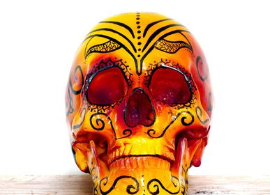 Decorative objects - Home'Skull, skull, Skull xl Calaveras Dia de los muertos Mandala Fuego - HOME SKULL