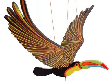 Decorative objects - Toucan - Handmade Wooden Handmade Mobile Bird from Fair Trade - TULIA'S ARTISAN GALLERY