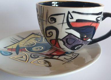 Ceramic - Enigma cups&saucers /DORA - ENIGMA