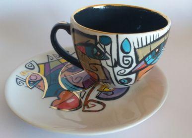 Ceramic - ENIGMA cups & saucers/ LORA - ENIGMA
