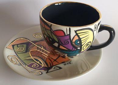Ceramic - ENIGMA cups&saucers/NANA - ENIGMA