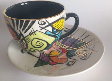 Ceramic - ENIGMA cups&saucers/ETTA - ENIGMA