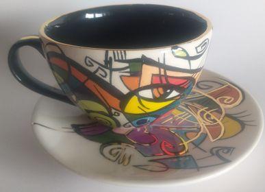 Ceramic - ENIGMA cups&saucers /ELENA -Tea time - ENIGMA